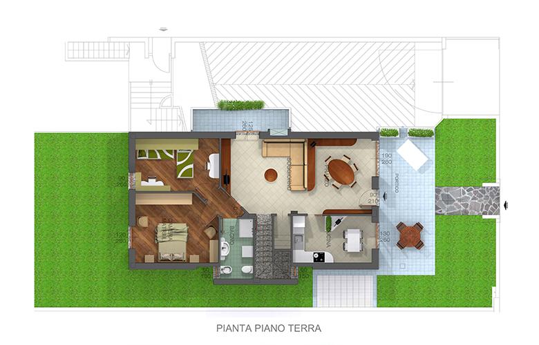 Trilocale in villa nuovo vendita diretta magnago for A forma di casa con piano piano unico