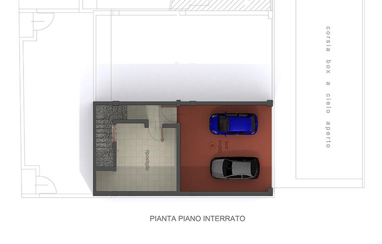 BILOCALE CARDO - PIANTA PIANO INTERRATO
